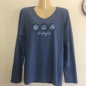 Life is Good Crusher Tee Long Sleeve Top